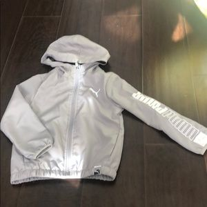 Boys gray puma windbreaker